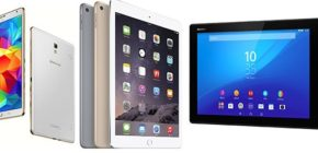Сравнение iPad Air 2, Sony Xperia Z4 Tablet и Samsung Galaxy Tab S